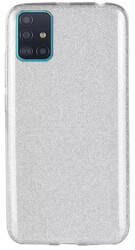 forcell shining back cover case for samsung galaxy a51 silver photo