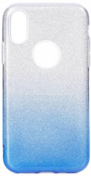 forcell shining back cover case for samsung galaxy a51 clear blue photo