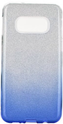 forcell shining back cover case for samsung galaxy s20 s11e clear blue photo