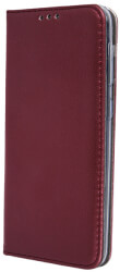 smart magnetic flip case for huawei p30 lite burgundy photo