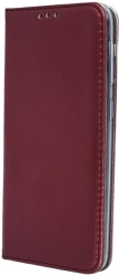smart magnetic flip case for samsung a41 burgundy photo