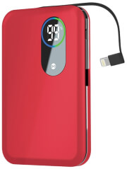 forever core power bank 5000 mah lightning cable red photo