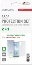 4smarts 360 protection set ultrasonix with colour frame glass for samsung galaxy s20 5g black photo