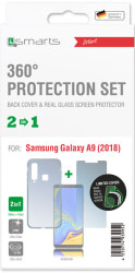 4SMARTS 360° PROTECTION SET LIMITED COVER FOR SAMSUNG GALAXY A9 (2018) CLEAR