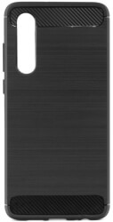 forcell carbon back cover case for huawei p40 black photo