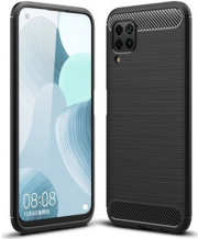 forcell carbon back cover case for huawei p40 lite black photo