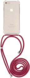 forcell cord case neck strap for samsung a71 red photo