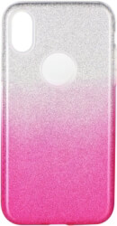 forcell shining back cover case for huawei p40 lite clear pink photo