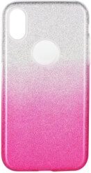 forcell shining back cover case for huawei p40 lite e clear pink photo