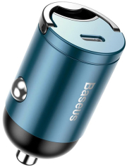 baseus tiny star pps car charger type c 30w fast charging blue photo