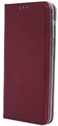 smart magnetic flip case for huawei p40 burgundy photo