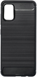 forcell carbon back cover case for samsung galaxy a41 black photo