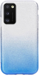 forcell shining back cover case for samsung galaxy a41 clear blue photo
