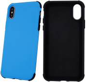 defender rubber back cover case for samsung a30 blue photo