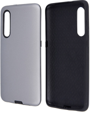 defender smooth back cover case for samsung a21s silver photo