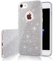 glitter 3in1 back cover case for samsung a21s silver photo