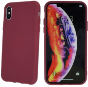 silicon back cover case for samsung a21s burgundy photo