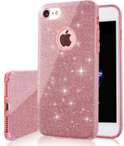 glitter 3in1 back cover case for samsung a21s pink photo