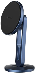 baseus hollow magnetic car mount holder with clamping function vertical navy blue photo