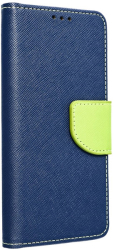 fancy book flip case for huawei y6p navy lime photo