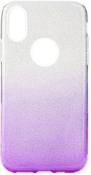 forcell shining back cover case for huawei y6p clear violet photo
