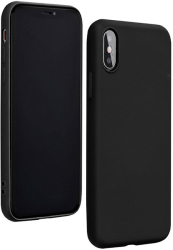 forcell silicone lite back cover case for huawei y6p black photo