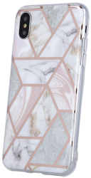 geometric marmur back cover case for huawei y6p pink photo