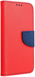 fancy book flip case for xiaomi note 8 red navy photo