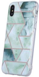 geometric marmur back cover case for xiaomi redmi note 9 green photo