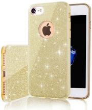 glitter 3in1 back cover case for xiaomi redmi note 8t gold photo