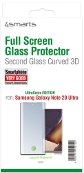 4smarts second glass curved 3d ultrasonix for samsung galaxy note 20 ultra black photo