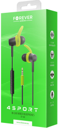 forever sp 100 wired earphones 4sport green photo