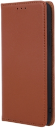 genuine leather flip case smart pro for huawei p40 lite e huawei y7p brown photo