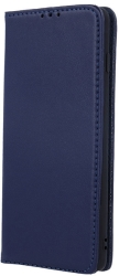 genuine leather flip case smart pro for iphone 11 pro navy blue photo