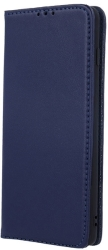 genuine leather flip case smart pro for samsung a51 navy blue photo