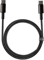 baseus tungsten gold fast charging data cable type c to type c 100w 1m black photo