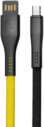 forever core extreme cable usb usb c 10 m 3a black yellow photo
