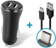 forever cc 03 car charger dual usb 36 a type c cable photo