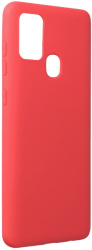 forcell soft back cover case for samsung galaxy a21s red photo