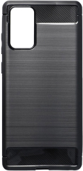 forcell carbon back cover case for samsung galaxy note 20 black photo