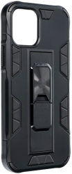 forcell defender back cover case stand for iphone 12 12 pro black photo