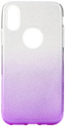 forcell shining back cover case for samsung galaxy a21s clear violet photo