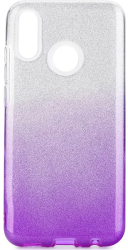 forcell shining back cover case for huawei psmart 2020 transparent violet photo