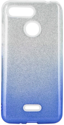 forcell shining back cover case for huawei psmart 2020 clear blue photo