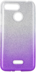forcell shining back cover case for samsung galaxy m31 clear violet photo
