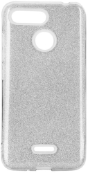 forcell shining back cover case for samsung galaxy m21 silver photo