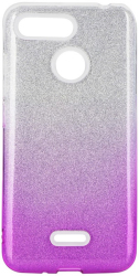 forcell shining back cover case for samsung galaxy m21 clear pink photo