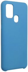 forcell silicone back cover case for samsung galaxy m31 dark blue photo