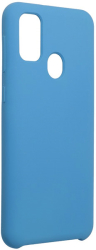 forcell silicone back cover case for samsung galaxy m21 dark blue photo