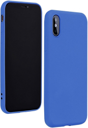 forcell silicone lite back cover case for iphone 12 pro max blue photo